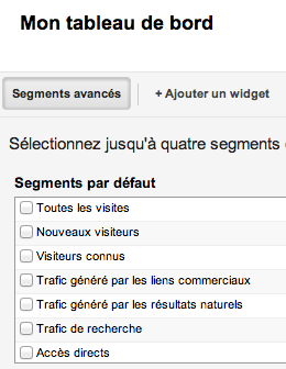 Google Analytics v6 TDB segments