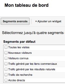 Google Analytics v6 TDB segments
