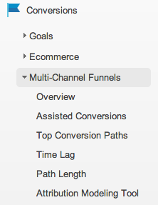 Google Analytics v6 conversion menu EN