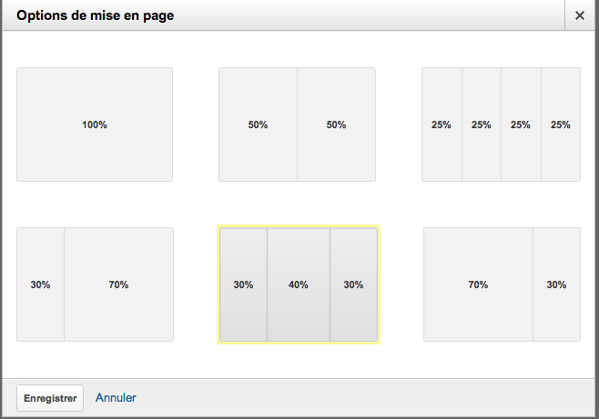 Google Analytics v6 dashboard layout