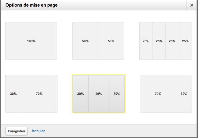 Google Analytics v6 dashboard layout