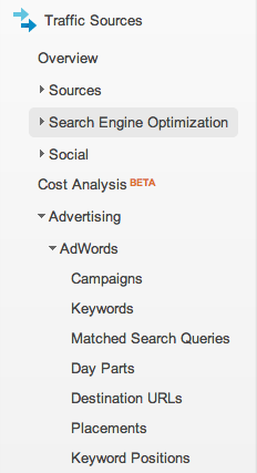 Google analytics v6 traffic sources EN