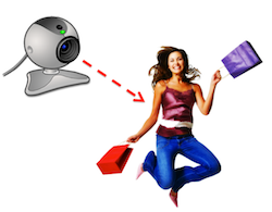 webcam universal analytics shopper