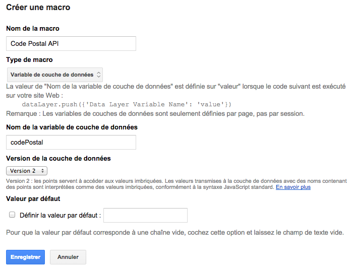 google analytics geolocalisation gtm macro