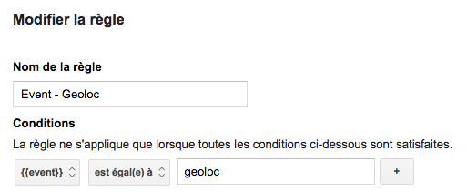 google analytics geolocalisation regle