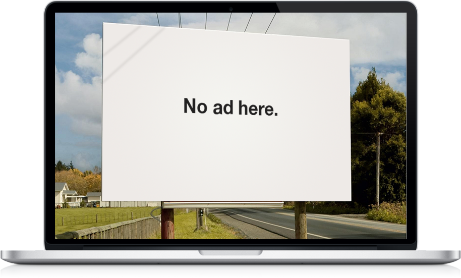 adblocking no ads here please