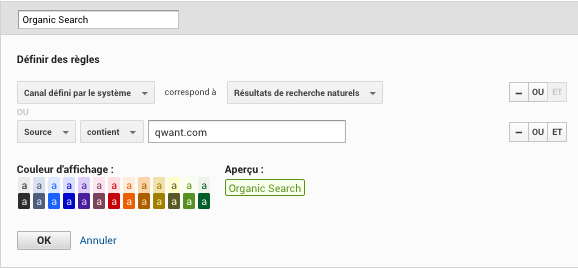 qwant dans google analytics liste referrer
